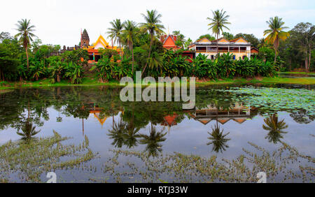 (881) temple Bakong, Hariharalaya, Roluos, Cambodge Photo Stock