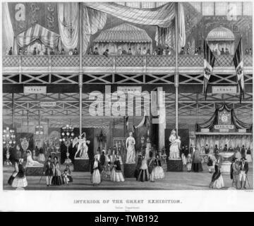 Le Département d'italien à la grande exposition de 1851 Date: 1851 Photo Stock