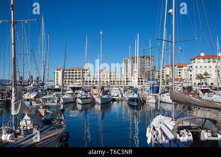 Gibraltar, Queensway Quay Marina Photo Stock