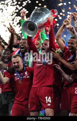 JORDAN HENDERSON, LIVERPOOL FC, 2019 Photo Stock