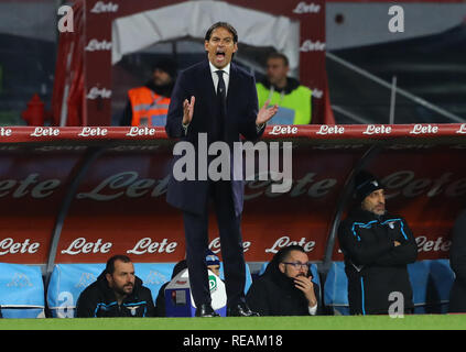 Stadio San Paolo, Naples, Italie. 20 Jan, 2019. Football Serie A, Naples et le Latium ; Simone Inzaghi entraîneur du Latium : Action Crédit Plus Sport/Alamy Live News Photo Stock