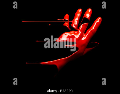 Un liquide rouge part Photo Stock