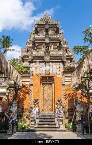 L'INDONÉSIE, Bali, Ubud, Palais Royal Photo Stock