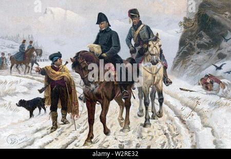 JOHN MOORE (1761-1809) menant la retraite britannique à Corunna (Ontario) au cours de la guerre de la Péninsule Photo Stock