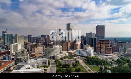 Le centre-ville de Denver, Colorado en 2017 Photo Stock