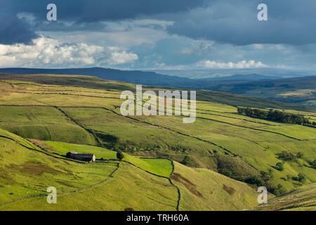 Hooksbank et Wharfedale, Kettlewell, Yorkshire Dales National Park, England, UK Photo Stock