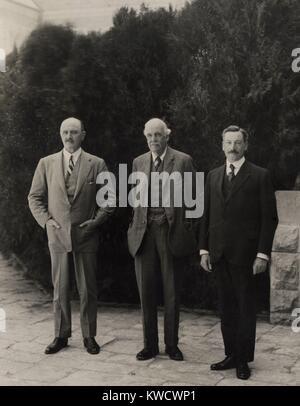 Les hommes britanniques de pouvoir en Palestine sous mandat britannique, le 31 mars 1925. L-R: Field Marshall Photo Stock