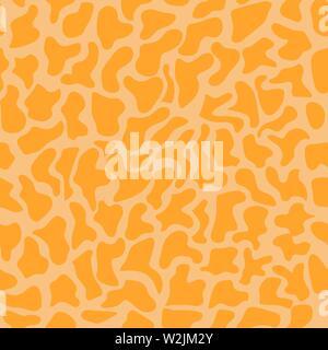 Seamless background dans des tons orange. Imitation peau de girafe. La solution idéale pour l'industrie textile, toile, sellerie et emballage Photo Stock