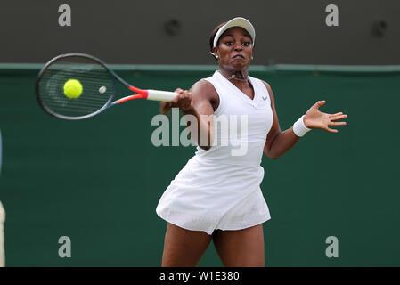 Wimbledon, Londres, Royaume-Uni. 2 juillet 2019. Strphens Sloane, USA, 2019: Crédit photo Allstar Bibliothèque/Alamy Live News Photo Stock