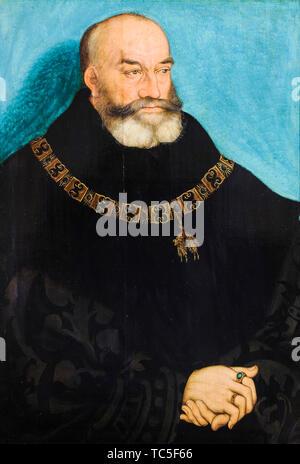 Lucas Cranach le Vieux, George le Barbu, duc de Saxe, 1471-1539, portrait, 1534 Photo Stock