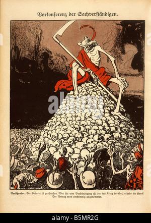 91917 80 C1 a négocié la paix 1917 Caricature Première Guerre Mondiale 1914 18 tentatives de paix Photo Stock