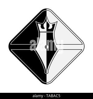 Plume Royal. Image style abstrait pour logo ou marque, pour l'icône, ou d'une décoration design Photo Stock
