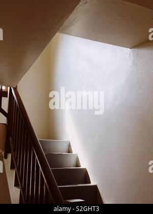 Cage d'escalier Photo Stock