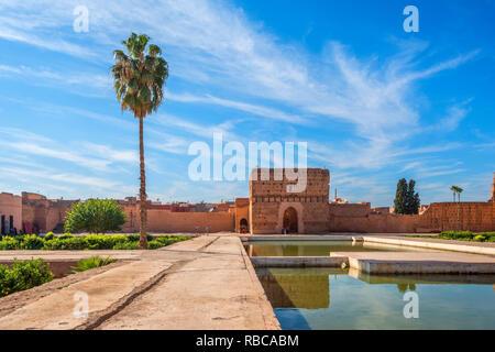 Palais El Badi, Marrakech, Maroc Photo Stock