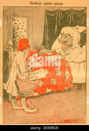91917 12 20 C1 La Première Guerre mondiale, la paix de Brest Litovsk negot Première Guerre mondiale Front Photo Stock