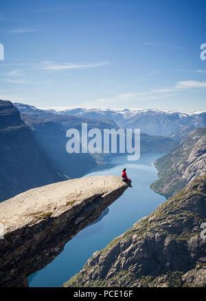 La liberté,fjord,trolltunga sorfjord, Photo Stock