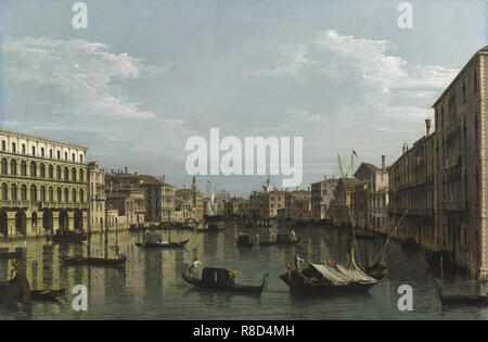 Le Grand Canal à la recherche au sud de Ca? Foscari au Carit&#xe0;, ca 1738. Collection privée. Photo Stock