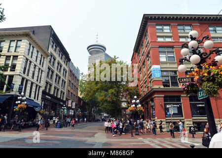 Horloge à vapeur de Gastown Vancouver Downtown Photo Stock