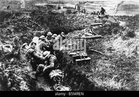 9 1917 1120 A2 24 E bataille de Cambrai 1917 FRA Mitrailleuses WWI 1914 bataille de Cambrai France 18 20 29 11 1917 Photo Stock