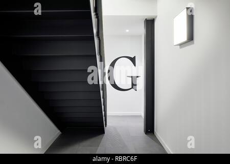 Escalier hélicoïdal. 8 Bloomsbury, Londres, Royaume-Uni. Architecte: Buckley Gray Yeoman, 2017. Photo Stock