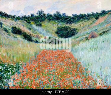 Claude Monet, champ de coquelicots, environs de Giverny, la peinture de paysages, 1885 Photo Stock