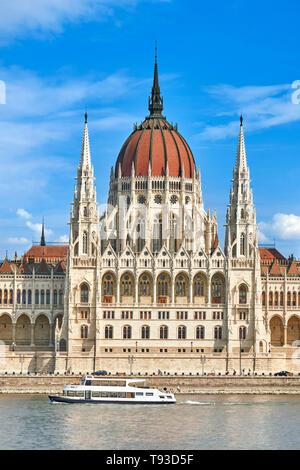 Budapest - Hongrie, bâtiment du Parlement européen Photo Stock