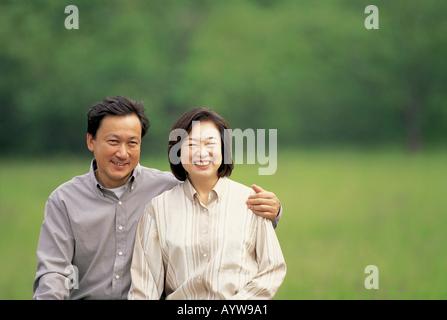 Couple d'âge moyen Photo Stock