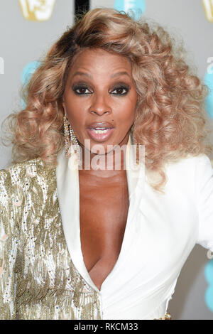 Londres, Royaume-Uni. 10 fév, 2019. Londres, Royaume-Uni. 10 février 2019 : Mary J Blige arrivant pour le BAFTA Film Awards 2019 au Royal Albert Hall, Londres. Photo : Steve Sav/Featureflash Crédit : Paul Smith/Alamy Live News Photo Stock