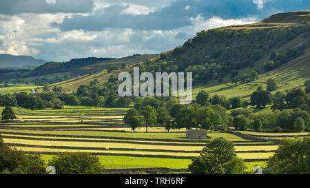 Wharfedale, Kettlewell, Yorkshire Dales National Park, England, UK Photo Stock