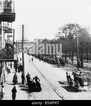 9 1916 318 A1 2 E Bataille du Lac Narocz 1916 Russ prisons Guerre Mondiale 1 Front de l'est la défaite Photo Stock