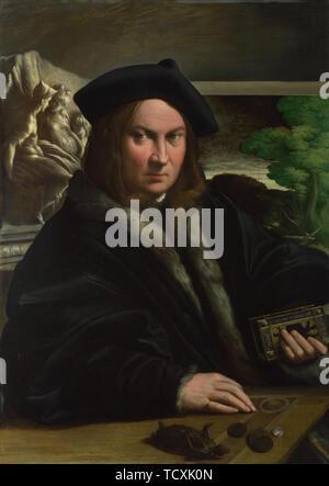 Portrait d'un collectionneur, ch. 1523. On trouve dans la Collection de la National Gallery, Londres. Photo Stock