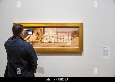 France, Paris, le Petit Palais, le musée des beaux-arts de la ville de Paris, Fernand Khnopff exposition, le maître de l'énigme Photo Stock