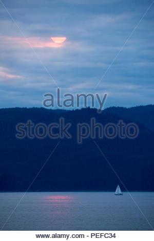 Un voilier en passage Stephens. Photo Stock