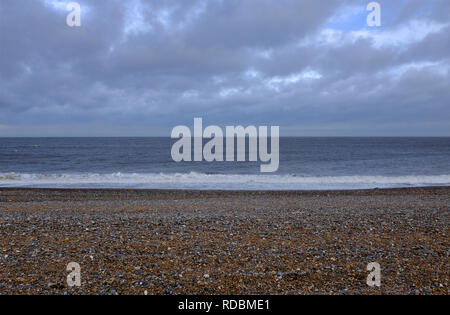 Le CLAJ beach, North Norfolk, Angleterre Photo Stock