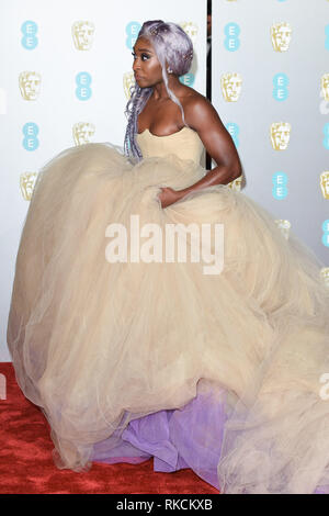 Londres, Royaume-Uni. 10 fév, 2019. Londres, Royaume-Uni. 10 février 2019 : Cynthia Erivo arrivant pour le BAFTA Film Awards 2019 au Royal Albert Hall, Londres. Photo : Steve Sav/Featureflash Crédit : Paul Smith/Alamy Live News Photo Stock