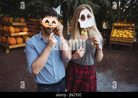 Masque halloween Couple Photo Stock