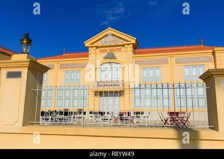 France, Bouches du Rhône, La Ciotat, Boulevard Clemenceau, le cinéma Eden Theatre Photo Stock