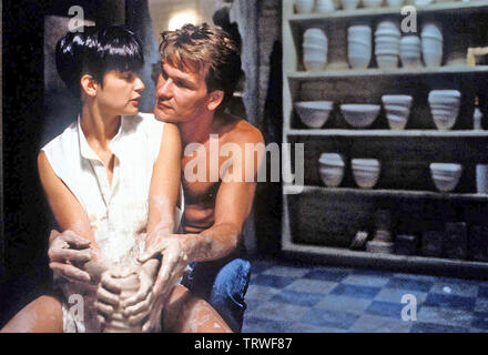 GHOST 1990 Paramount Pictures film avec Demi Moore et Patrick Swayze Photo Stock