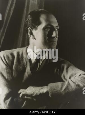 George Gershwin, compositeur américain, portrait par Carl Van Vechten, le 28 mars 1937. Sa musique a été Photo Stock