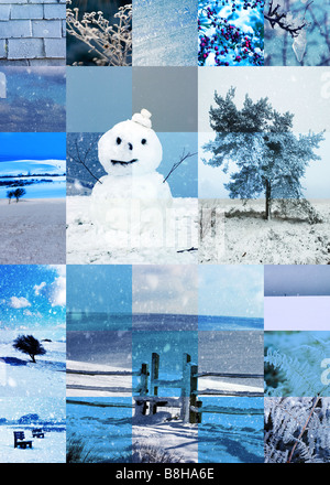 Illustraion de neige scènes britannique et icônes Photo Stock