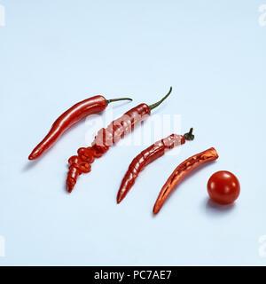 tomate, piment Photo Stock