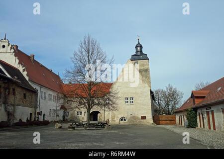 Dans l'egeln wasserburg salzlandkreis en SAXE-ANHALT Photo Stock