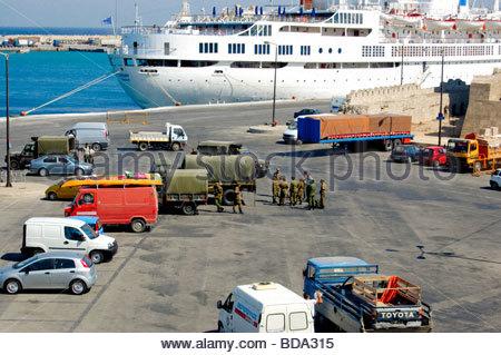 Un port de Rhodes, Grèce Photo Stock