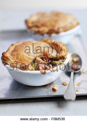Pot Pie avec la Turquie Photo Stock