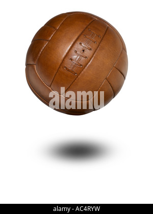 Un football cuir vintage Photo Stock