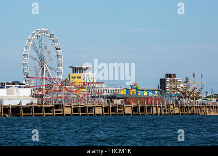Clarence Pier à Southsea, Portsmouth, Hampshire, Royaume-Uni Photo Stock
