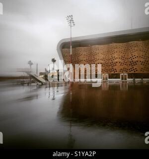 L'aéroport de Marrakech sous la pluie Photo Stock