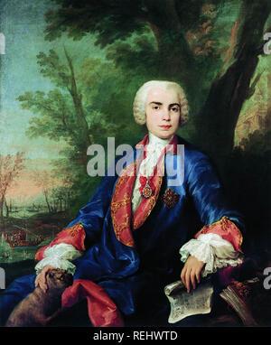 CARLO FARINELLI (1705-1782) chanteur castrat italien. Peinture de Jacopo Amigoni sur 1755 Photo Stock