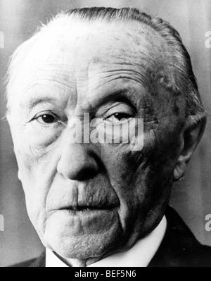 Le chancelier allemand Konrad Adenauer au début des années 1950 Photo Stock