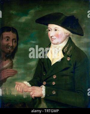 Le Capitaine Nathaniel Portlock, c. 1747-1817, portrait, vers 1788 Photo Stock